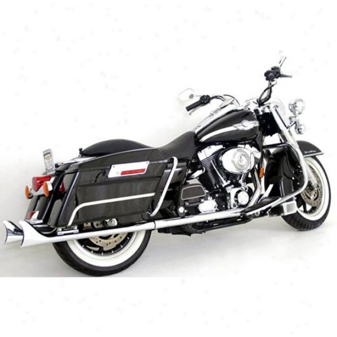 Siilver Bullet Muffler - 33in. Straight Pipe Fishtails