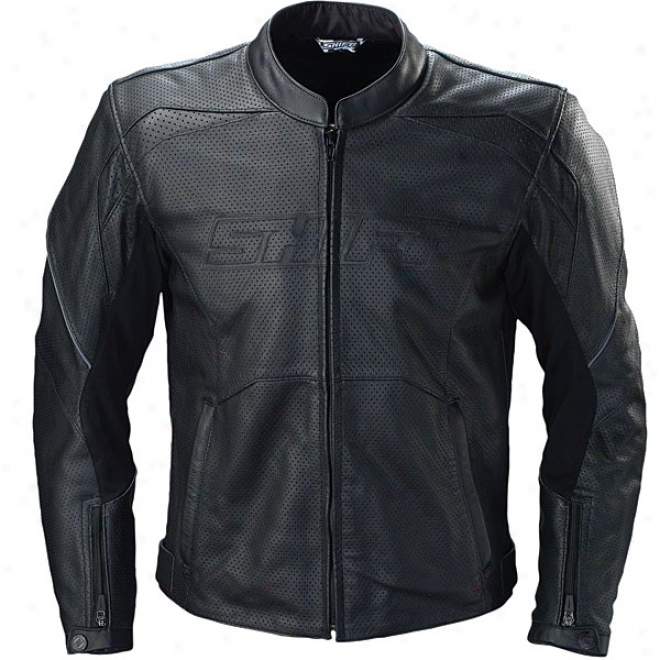Vendetta Perforated Leather Jacket