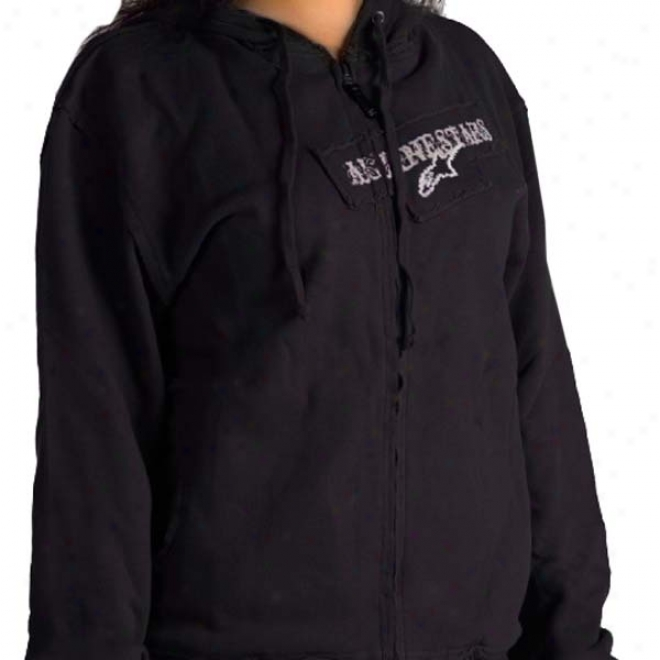 Womens Destructive Zip-up Hoody