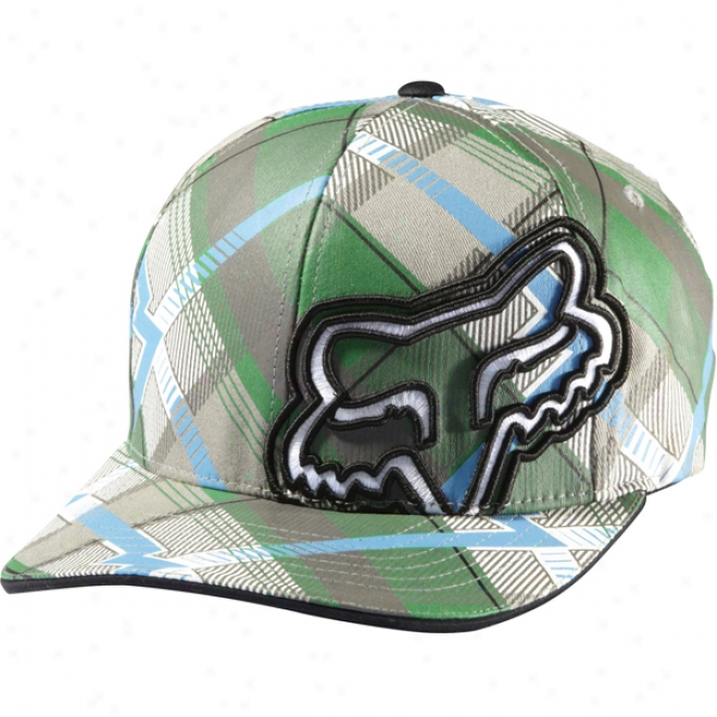Womens F Plaid Flexfit Hat