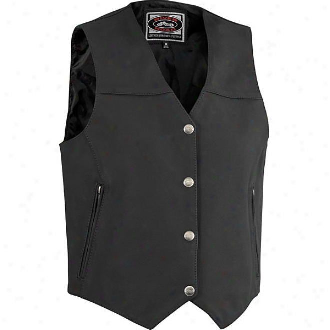 Womens Granite Leather Vest