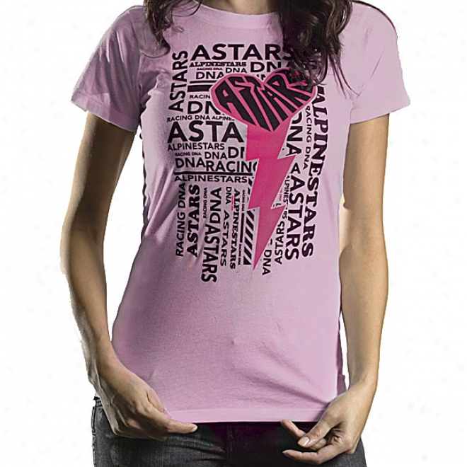 Womens Heartning Bolt Skinny T-shirt