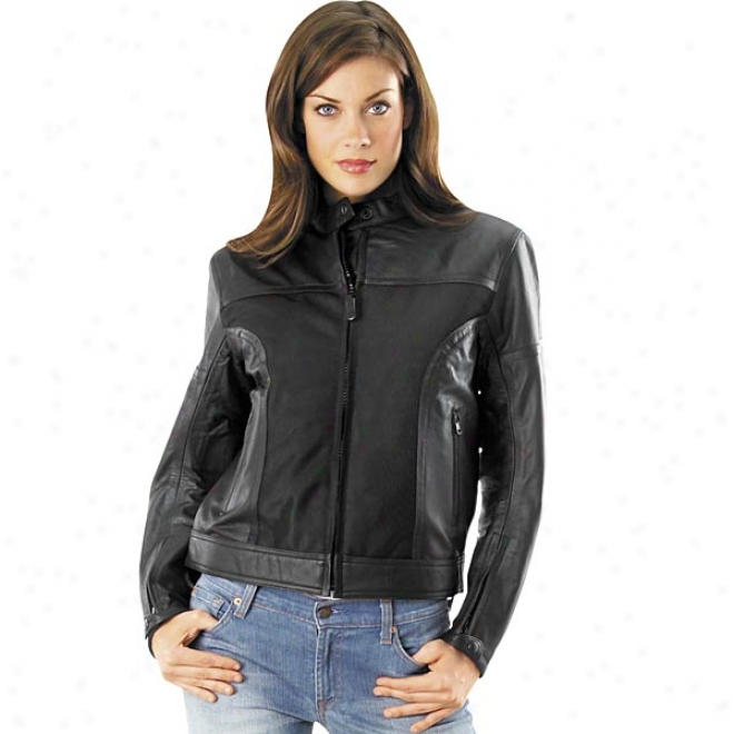 Womens Pecos Leather Mesh Jacket