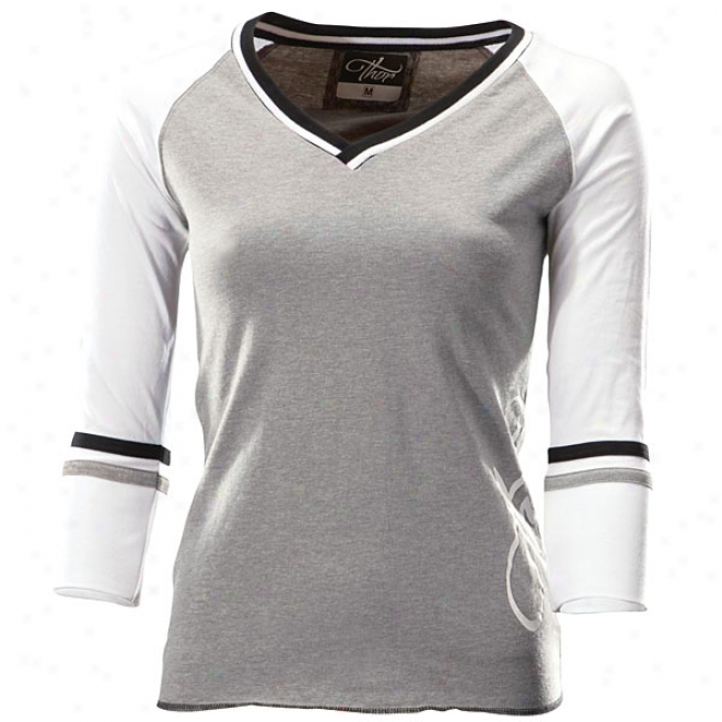 Womens Royal A ~ time Sleeve Knit T-shirt