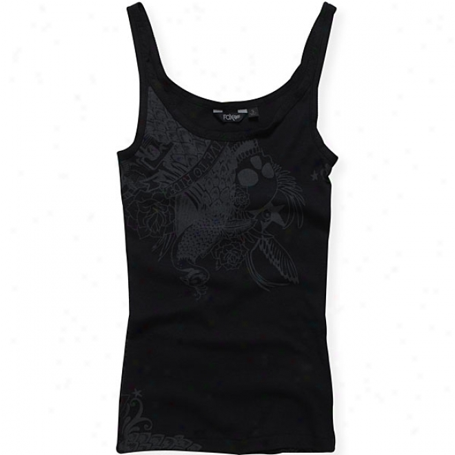 Womens Tattoo Fest Scallop Tank Top