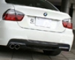 3d Design Carbon Fiber/frp Rear Diffuser  Bg Single Exhaust Bmw 3 Series E90 M-sport 06+