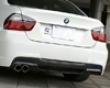 3d Design Carbon Fiber/frp Rear Diffuser  Bg Single Exhaust Bmw 3 Series E90 M-sport 06+