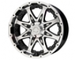 American Outlaw Buckshot 16x8  5x114.3  -6mm Black Machined Face