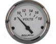 Autometed American Platinum 2 1/16 Voltmeter Gauge