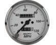 Autometer American Platibum 3 1/8 Speedometer 120 Mph
