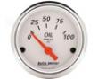 Autometer Arctic White 2 1/16 Oil Pressure Gauge