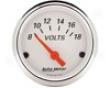 Autometer Arctic White 2 1/16 Voltmeter Gauge