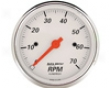 Autometer Arctic White 3 1/8 Tachometer 7000 Rpm