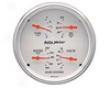 Autometer Arctic White 5&#34 Quad Gauge
