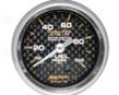 Autometer Carbon Fiber 2 1/16 Fuel Pressure 0-100 Gauge