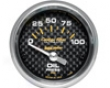 Autometer Carbon Fiber 2 1/16 Oil Pressure 0-100 Gauge