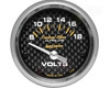 Autometer Carbon Fiber 2 1/16 Voltmeter Gauge