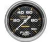 Atuometer Carbon Fiber 2 5/8 Fuel Pressure Gauge