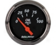 Autometer Designer Black 2 1/16 Oil Pressure Measure