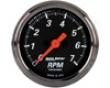 Autometer Designer Black 2 1/16 Tachometer 7000 Rpm