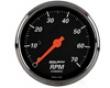 Autometer Designer Black 3 1/8 Tachometer 7000 Rpm