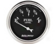Autometer Old Tyme Black 2 1/16 Fuel Horizontal surface 0e/30f Gauge
