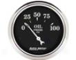 Autometer Old Tyme Black 2 1/16 Oil Pressure Gauge