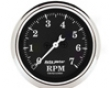 Automdter Old Tyme Black 2 1/16 Tachometer 7000 Rpm