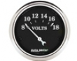 Autometer Old Tyme Black 2 1/16 Voltmeter Gauge