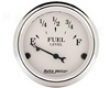 Autometer Old Tyme White 2 1/16 Fuel Level 0e/30f Gauge