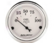 Autometer Old Tyme White 2 1/16 Oil Preasure Gauge