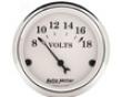 Autometer Old Tyme White 2 1/16 Voltmeter Gauge