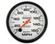 Autometer Phantom 5in. Speedometer 160 Mph