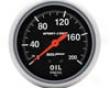 Autometer Sport-comp 2 5/8 Oil Pressure 0-200 Gauge
