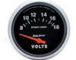 Autometerr Sport-comp 2 5/8 Voltmeter Gauge