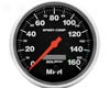 Autometer Sport-comp 5in. Pdogrammable Speedometer 160mph