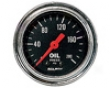 Autometer Traditional Chrome 2 1/16 Oil Pressure 0-200 Gauge