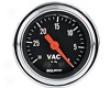 Autometer Traditional Chrome 2 1/16 Vacuum Gauge
