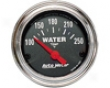Autometer Traditional Chrome 2 1/16 Water Temperature Gauge