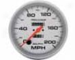 Autometer Ultraist Lite 5&#34 Speedometer 200 Mph