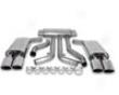 B&b 2.5 Inch Catback Exhaust Quad 4.5 Inc Oval Tips 2 Bolt Flange Chevrolet Corvette C4 L98 86-91
