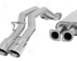 B&b True Dual Catback Exhaust System Hummer H2 03-06