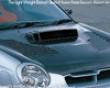 C-west Carbon Hood W/o Louver Subaru Wrx 02-03