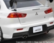 C-west Rear Bumper Mitsubishi Evo X 08+