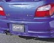 C-west Rear Half Spoiler Subaru Wrx 02-03