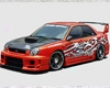 Chargespeed D-1 Widebody Side Skirts With Cover Subaru Wrx Gda 02-03