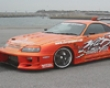 Chargespeed Gt Wide Body Front Bumper Through  Carbon Flap Toyota Supra Jza80 93-98