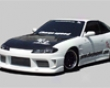 Chargespeed S15 Connversion Full Body Kit & Frp Oem Hood Nissan 240sx S13 Hb 89-94