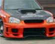Chargespeed Widebody Front Bumper W/ 3d Carbon Center Subaru Wrx Sti 02-05