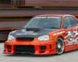 Chargespeed Widebody Front Bumper W/ Straight Carbon Cen5er Subaru Wrx Sti 02-05